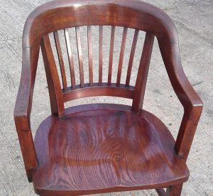 Wooden brown chair