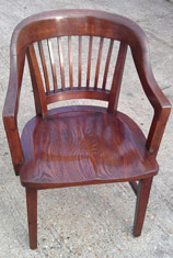 French polishing on wooden chair